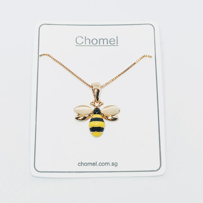 Bee Simulated Moonstone Necklace