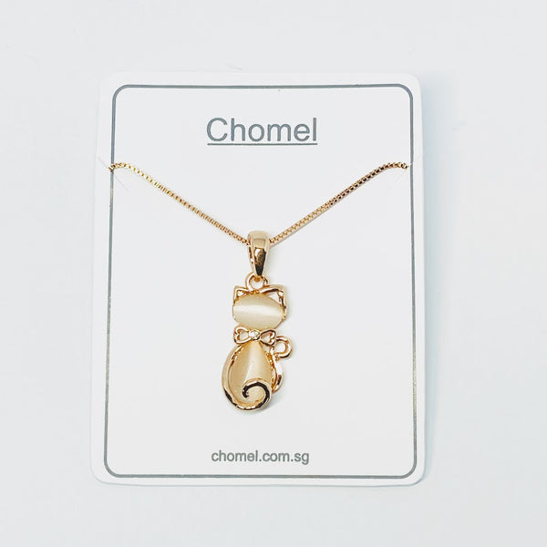 Cat Simulated Moonstone Necklace - CHOMEL