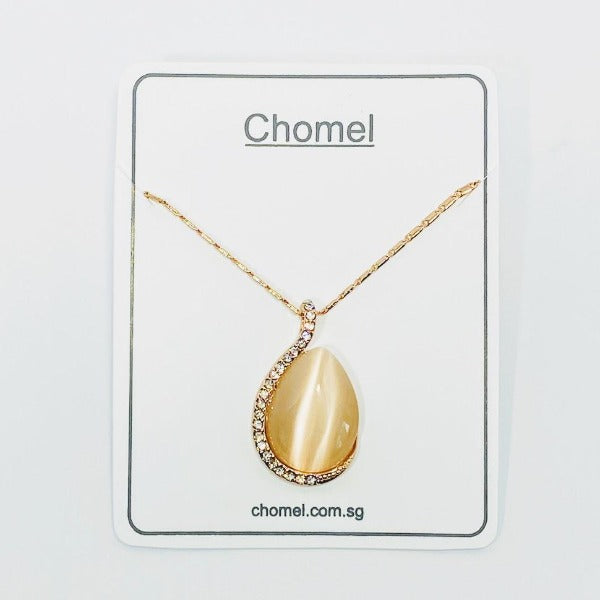 Simulated Moonstone Necklace - CHOMEL