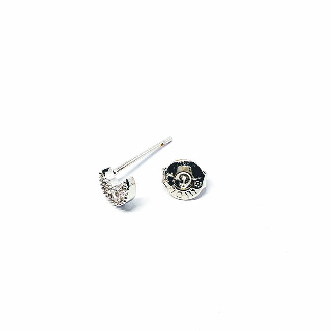 Moon Cubic Zirconia Earring