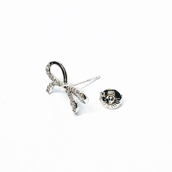 Ribbon Cubic Zirconia Earring
