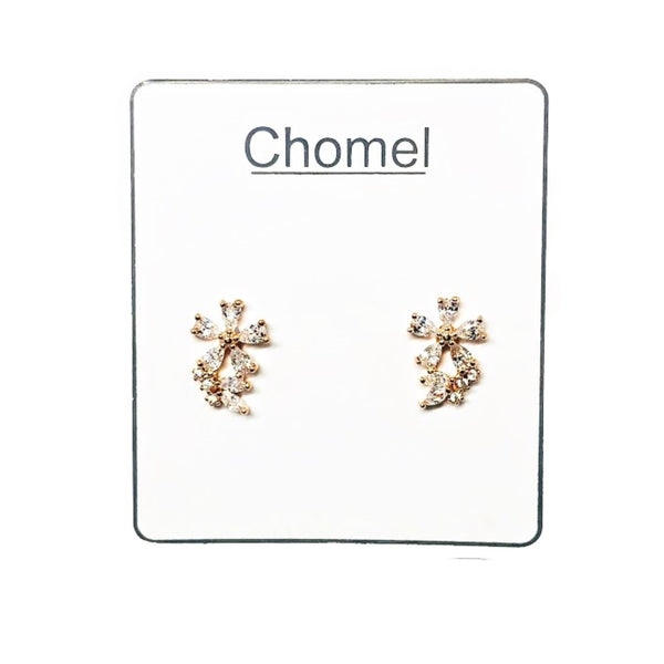 Flower Cubic Zirconia  Earrings - CHOMEL