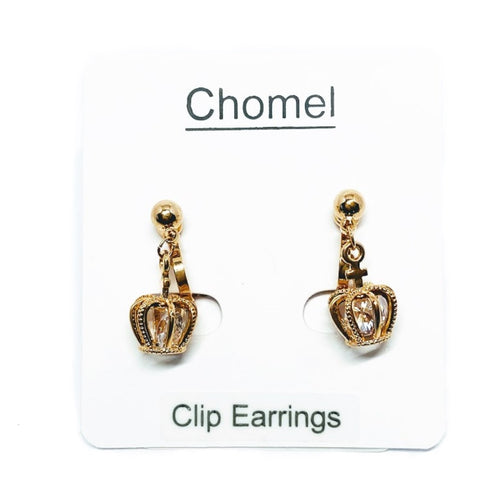 Crown Cubic Zirconia Earrings - CHOMEL