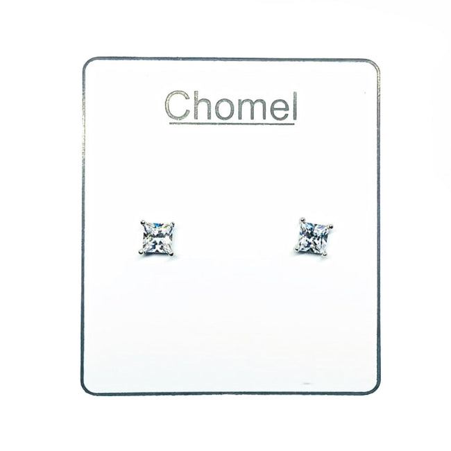 Solitaire Cubic Zirconia Earring - CHOMEL