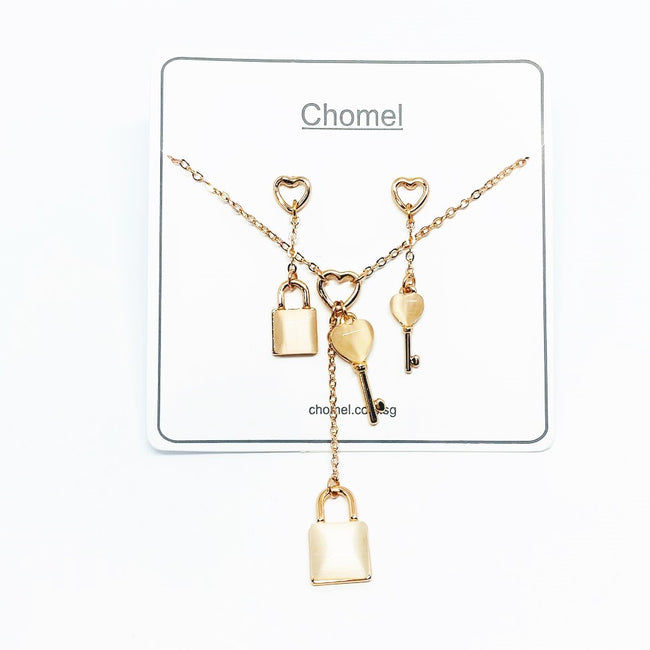 Lock & Key Moonstone Set - CHOMEL