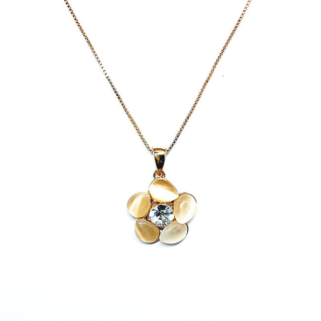 Flower Simulated Moonstone Set - CHOMEL