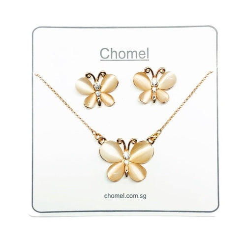 Butterfly Simulated Moonstone Set - CHOMEL