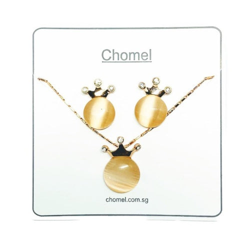 Crown Simulated Moonstone Set - CHOMEL