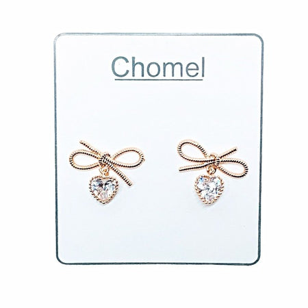 Smiley Face Cubic Zirconia Earrings