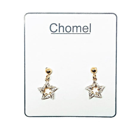 Moon & Star Cubic Zirconia Earrings