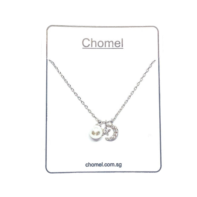 Moon & Star Pearl Necklace - CHOMEL