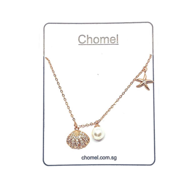 Shell , Starfish and Pearl Necklace - CHOMEL
