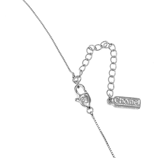 Moon and Star Cubic Zirconia Necklace - CHOMEL