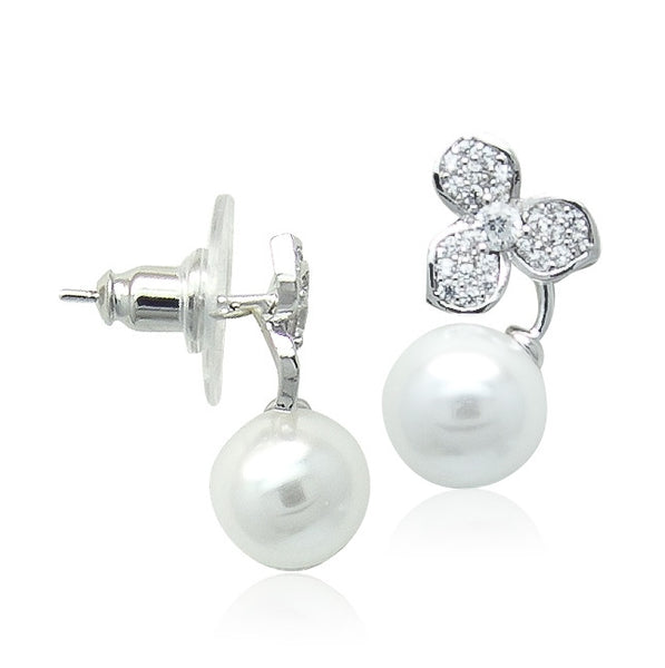 Simulated Pearl Stud Earring