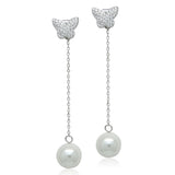 Simulated Pearl Drop Earrings - CHOMEL