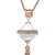 Faux Pearl Rose Gold Tassel Necklace