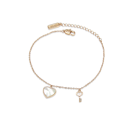 Heart Mother of Pearl Bracelet