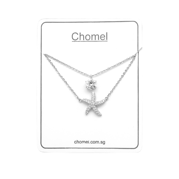 Starfish Cubic Zirconia Necklace