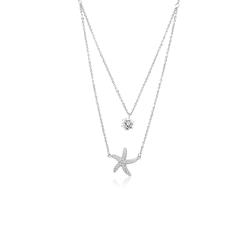 Starfish Cubic Zirconia Necklace - CHOMEL
