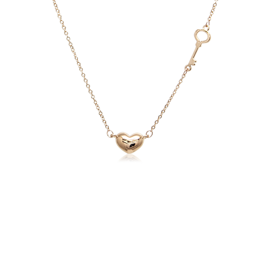 Heart & Key Necklace - CHOMEL