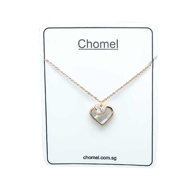 Heart Mother of Pearl Necklace - CHOMEL