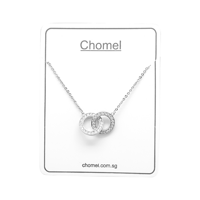 Interlocking Circle Cubic Zirconia Necklace - CHOMEL