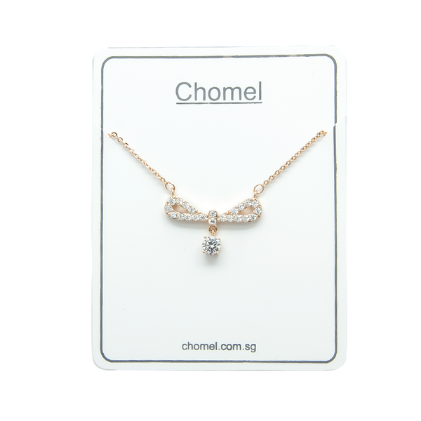 Ribbon Cubic Zirconia Necklace