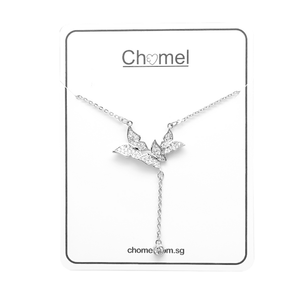 Butterfly Cubic Zirconia Necklace - CHOMEL