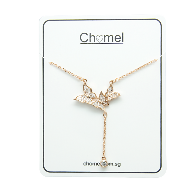 Butterfly Cubic Zirconia  Necklace