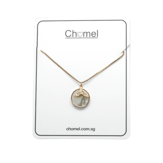 Mermaid Tail Mother of Pearl Necklace - CHOMEL