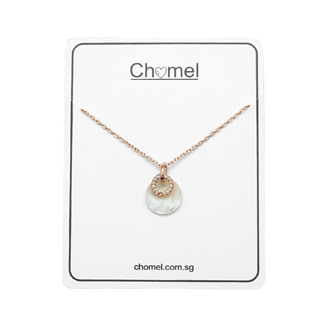 Round Mother of Pearl Necklace - CHOMEL