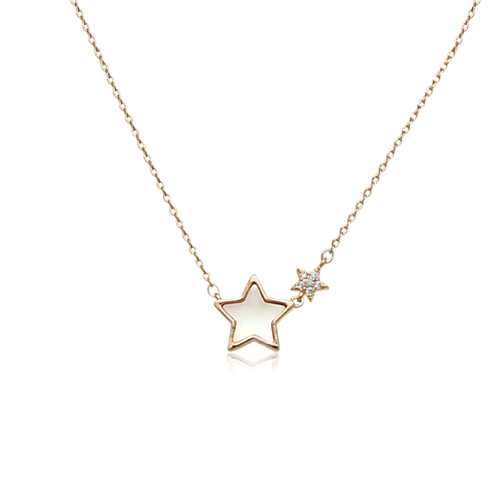Star Mother of Pearl Necklace