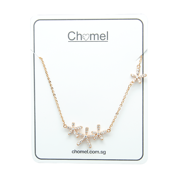 Flower Cubic Zirconia  Necklace - CHOMEL