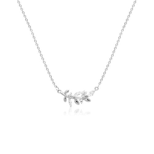 Leaf Cubic Zirconia Necklace
