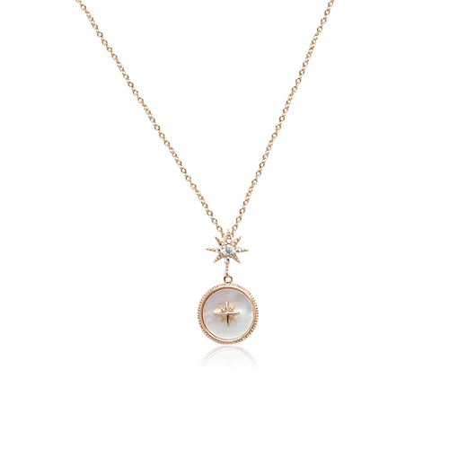 Stardust Mother of Pearl  Necklace