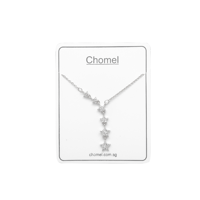 6 Stars Cubic Zirconia Necklace