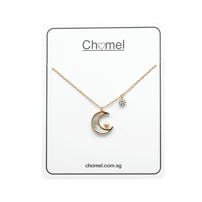 Moon & Star Mother of Pearl Necklace - CHOMEL