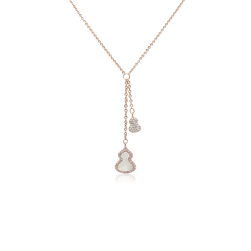Gourd-Hulu Mother of Pearl Necklace - CHOMEL