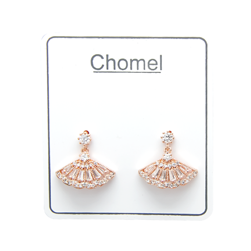 Fan Cubic Zirconia Earrings