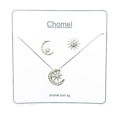 Moon & Star Cubic Zirconia Set - CHOMEL