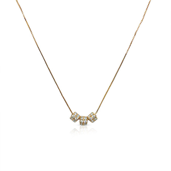 Cubic Zirconia Ring Pendant Necklace - CHOMEL