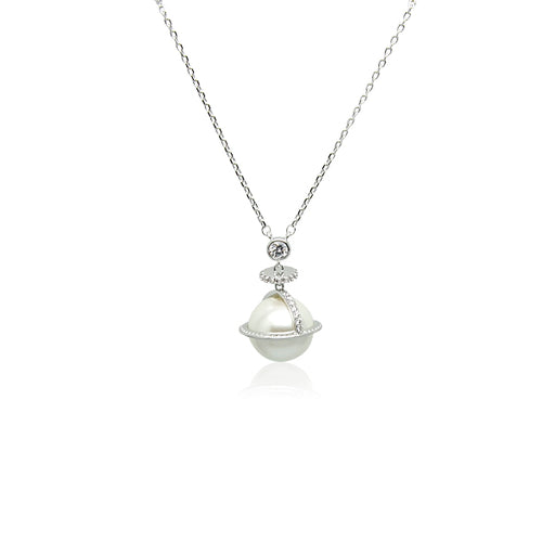 Simulated Pearl Long Necklace - CHOMEL