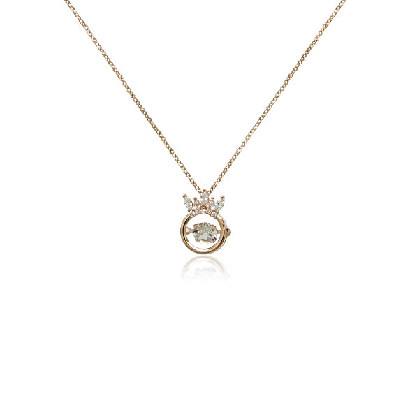 Crown Cubic Zirconia Necklace