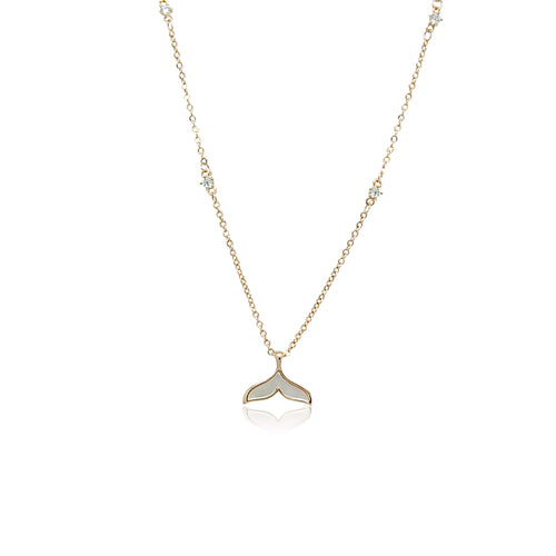 Mermaid Tail Cubic Zirconia Necklace - CHOMEL