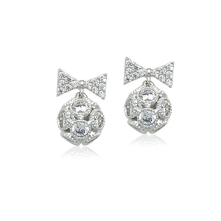 6mm Cubic Zirconia Solitaire Diamante Stud Earring