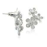 Cubic Zirconia Flower Earrings