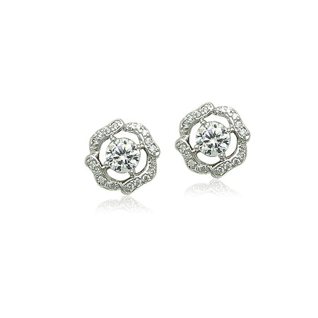 6mm Cubic Zirconia Diamante Stud Earring