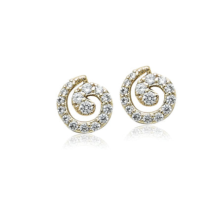 Cubic Zirconia Droplet Earrings
