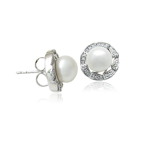 8.5mm Freshwater Pearl Stud Earrings