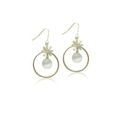 Simulated Moonstone Drop Earrings